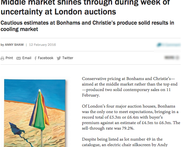 Middle market shines through during week of uncertainty at London auctions