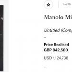 El buen momento de Manolo Millares en las subastas internacionales