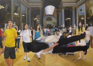 "Sandra Gamarra, ""Doble 1"", 2011. Óleo sobre tela, 130 x 190 cm. Cortesía: Juana de Aizpuru, Madrid, 2016."