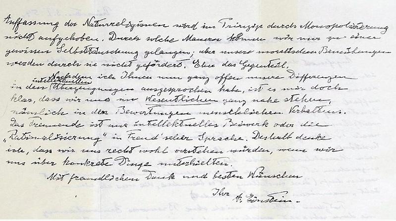 Subasta cartas Einstein
