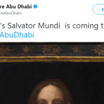 «Da Vinci's Salvator Mundi is coming to #LouvreAbuDhabi»