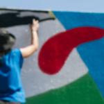 Nuevo mural de Pouvelle para el 12+1 en Sant Feliu
