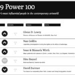 Las 100 personalidades más relevantes del arte contemporáneo en 2019