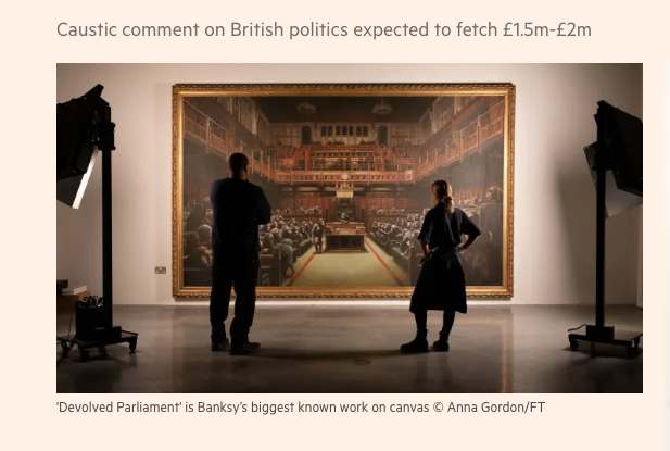 Devolved Parliament- Bansky